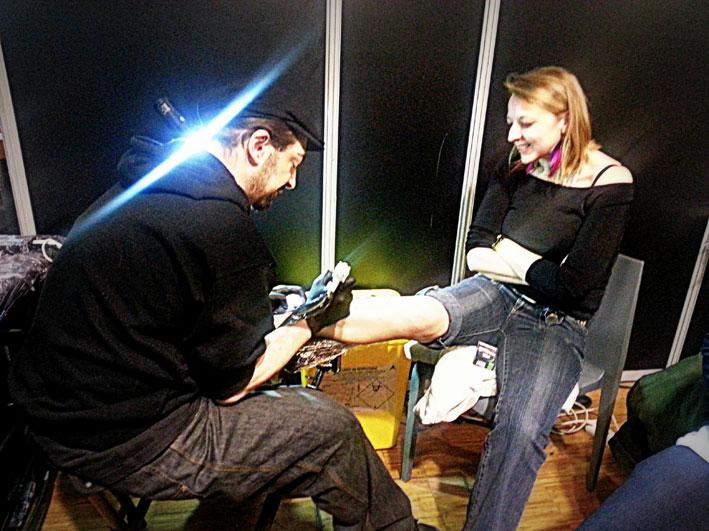 Klaim (Street Tattoo) au Mondial du Tatouage 2016.