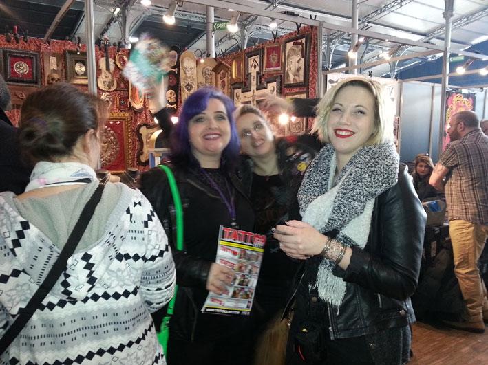 Alin'K, Mymy et Tam au Mondial du Tatouage 2017.