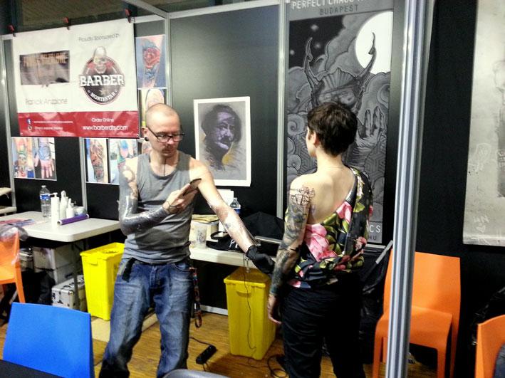 Nikko Inko au Mondial du Tatouage 2017.