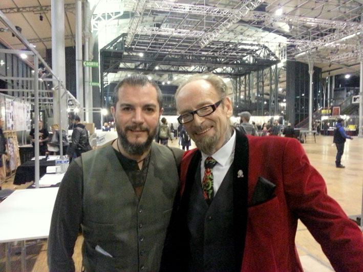 Avec Bill Salmon (R.I.P.) au Mondial du Tatouage 2017.
