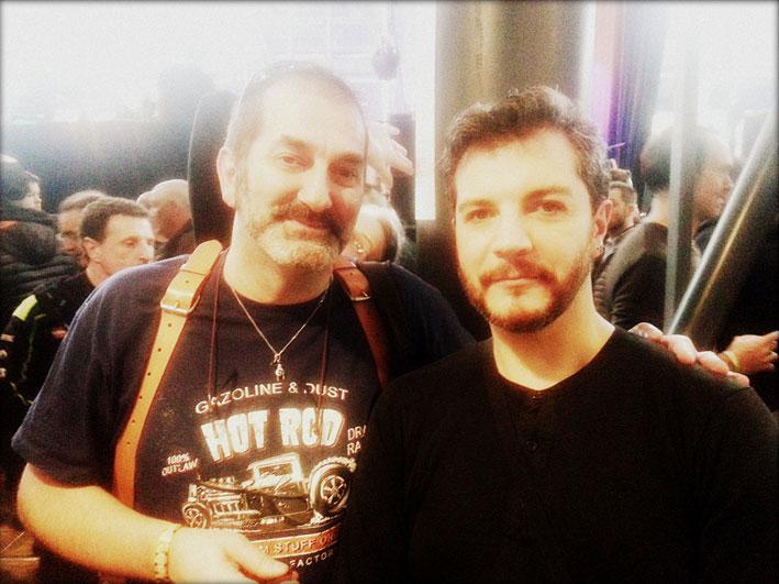 Avec Claude Bencimon au Mondial du Tatouage 2018.