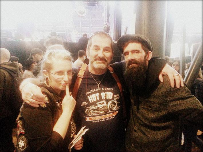 Avec Mymy, Claude Bencimon et Fred au Mondial du Tatouage 2018.