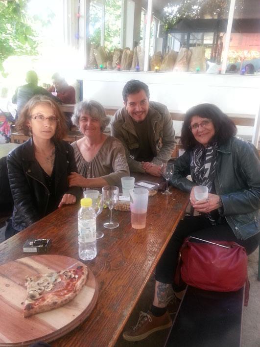 Lili, Catherine, Marco et Karine, à l'AG du SNAT 2019.
