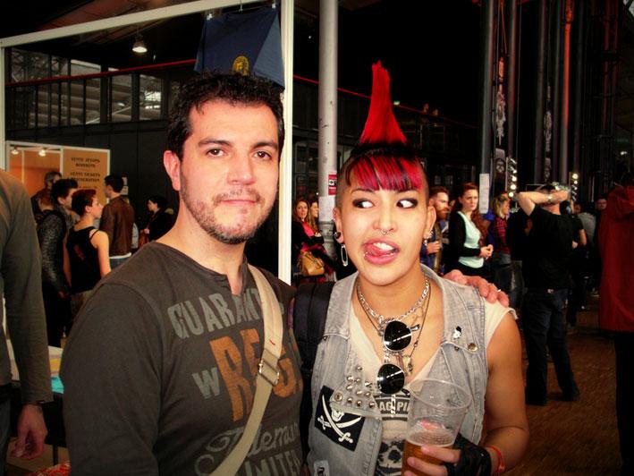 Avec Éli au Mondial du Tatouage 2013.