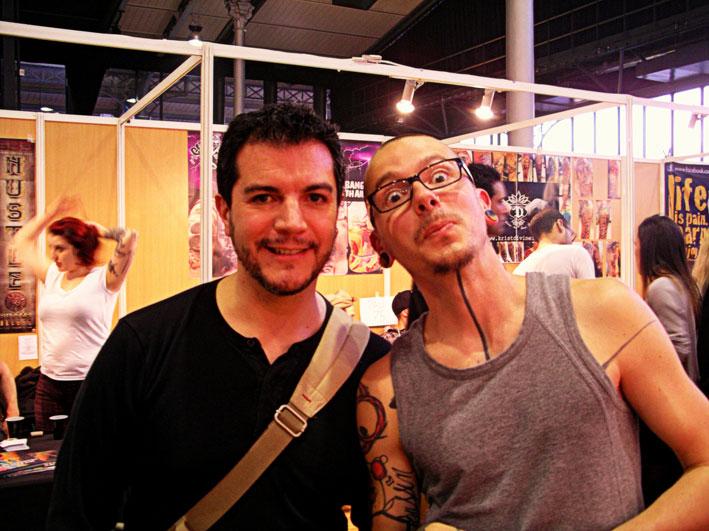 Avec Marco Zilveti et Niko Inko au Mondial du Tatouage 2014.