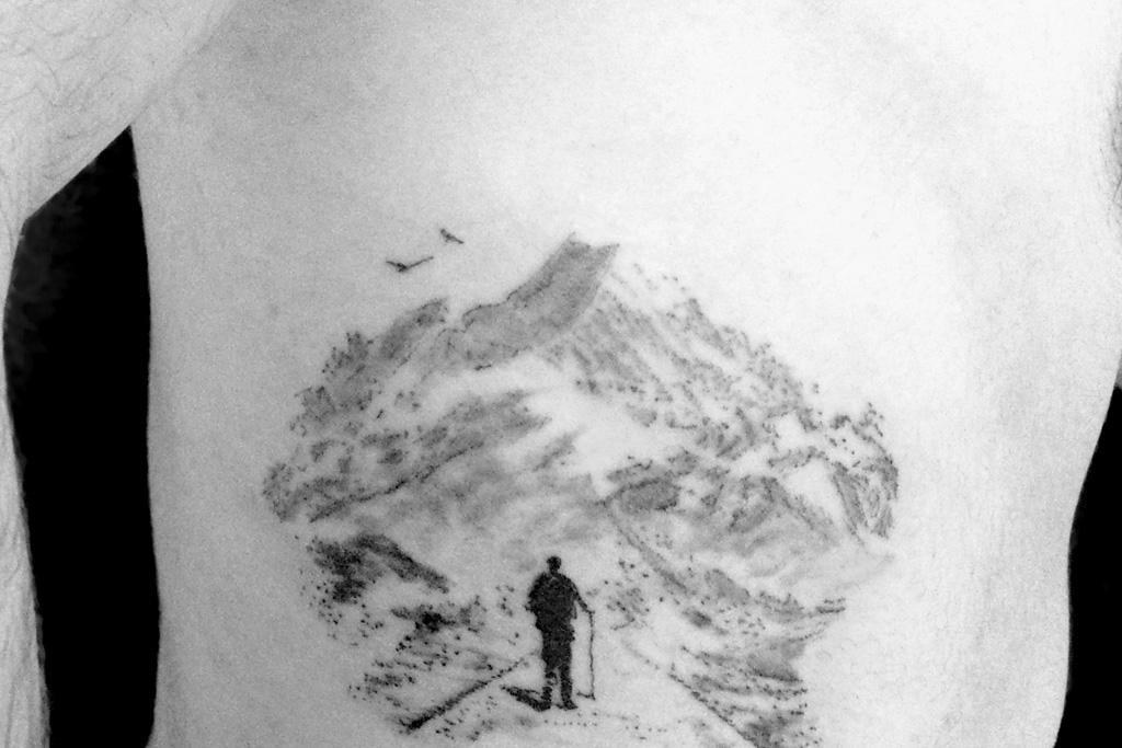 Homme et montagne