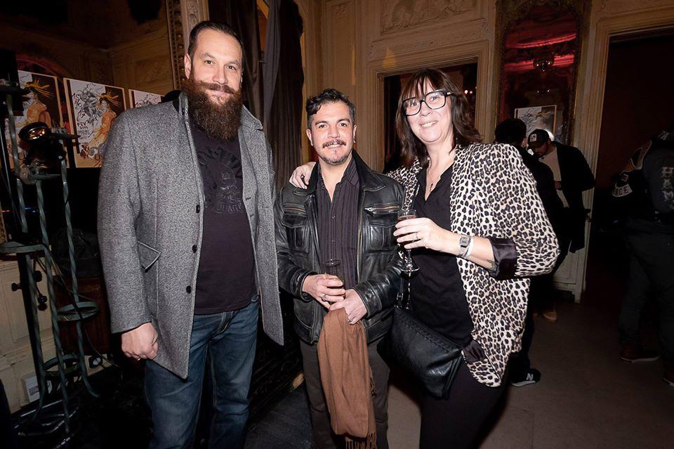 Avec Marie Manson et conjoint. Soirée privée_Lancement du Mondial du Tatouage_2019_Marie Manson_Déclics et Pix elle_Tous droits réservés